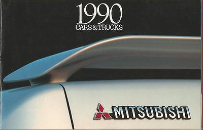 ADVERTISING SALES BROCHURE - 1990 – MITSUBISHI AUTOMOBILES – 16 Pages