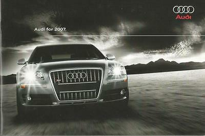 ADVERTISING SALES BROCHURE - 2007 – AUDI AUTOMOBILES – 36 Pages