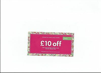 Joules Voucher £10 Off When Spending Min £40 On Full Price Items