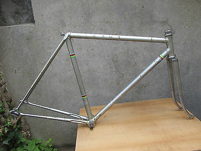 CAMPAGNOLO SPEEDY VINTAGE RACING BICYCLE HANDMADE FRENCH FRAME VELO CADRE 51cm