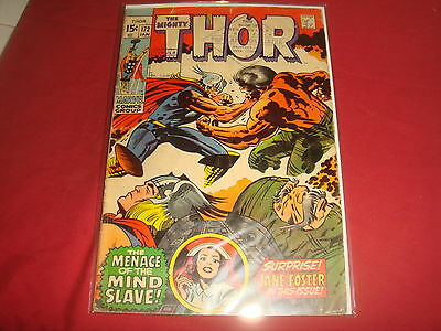 THE MIGHTY THOR #173  Jack Kirby Silver Age Marvel Comics 1970 G/VG