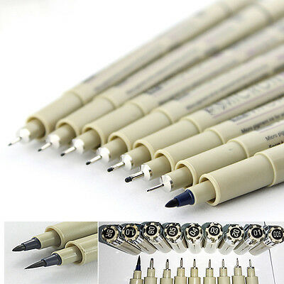 Hot Pigma Micron Ink Pen Set Black Drawing pens Cartoon Pen