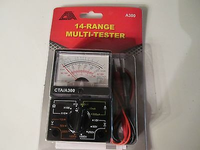 Ohm Amp AC DC Battery Tester Meter Gauge Analog Multi tester needle style Volt