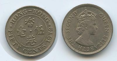 G6597 - Hong Kong Fifty Cents 1972 KM#34 Flizabeth II. British