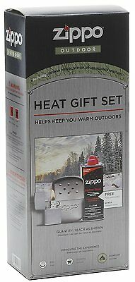 Zippo Lighter and Fluid and Hand Warmer Heat Gift Set
