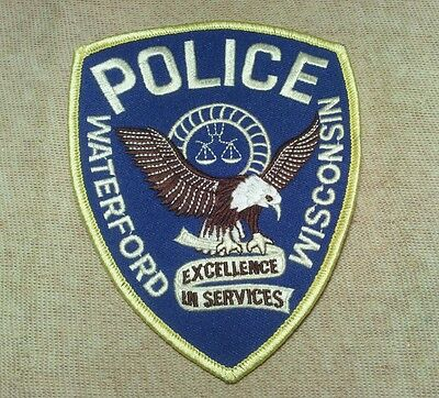 WI Waterford Wisconsin Police Patch