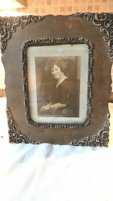 Victorian Ornate Wood Frame With Portrait Photo