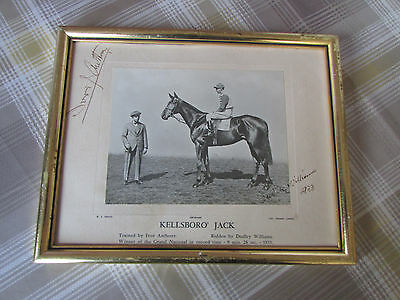 GRAND National 1933 Kellsboro Jack SIGNED Pic by Dudley WILLIAMS & Ivor ANTHONY