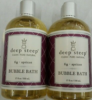 Deep Steep Bubble Bath, Fig Apricot, 17 Ounce Each - Pack of 2