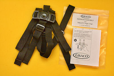 New GRACO TABLEFIT High Chair Seat Belt Strap 5pt Harness Table Fit Graco Made