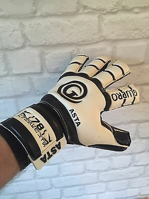 Asta Glupro Goalkeeper Gloves Removable Spines Size 9 Black Contact 4mm