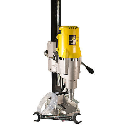 """Steel Dragon Tools® 8"""" 185 Wet Dry Core Drill Rig and Stand for Diamond Concrete"""