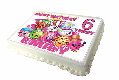 Shopkins A4 Edible Real Icing Cake Topper