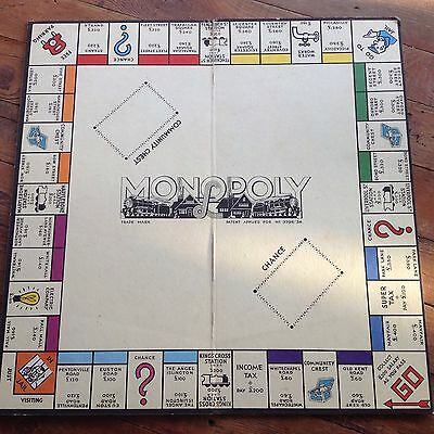 VINTAGE WADDINGTONS MONOPOLY BOARD ONLY FROM GAME Replacement Board