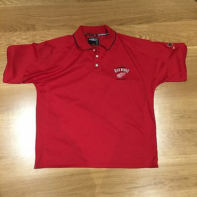 Detroit Red Wings - Polo Shirt - NHL - Ice Hockey - Red - Size L - Official