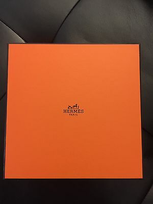 Auth New Hermes Logo Original Orange Gift Box for Scarf Jewelry Accessories Ring