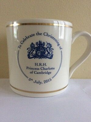 Pottery Mug To Celebrate The Christening Of Princess Charlotte Of Cambridge