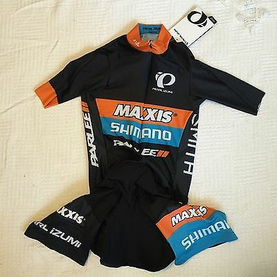 New Men's Pearl Izumi Maxxis Shimano CX Team SS Cycling Pocketed Speedsuit, Sz M