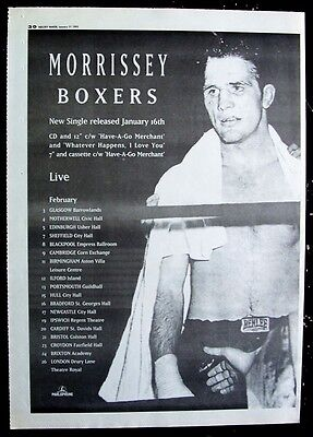 the smiths MORRISSEY 1995 Poster Ad BOXERS