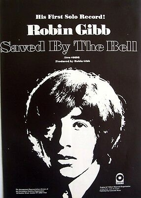 the bee gees ROBIN GIBB 1969 Poster Ad SAVED BY THE BELL