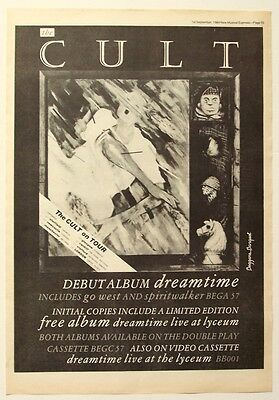 THE CULT 1984 Poster Ad DREAMTIME