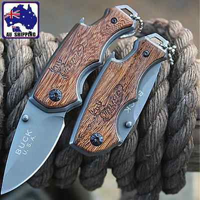 1pc Pocket Knife Folding Stainless Steel Knives Outdoor Camping OKNI47644