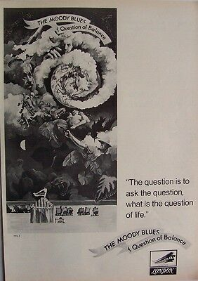 THE MOODY BLUES 1970 Poster Ad QUESTION OF BALANCE