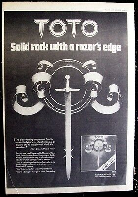 TOTO 1979 Poster Ad TOTO hold the line