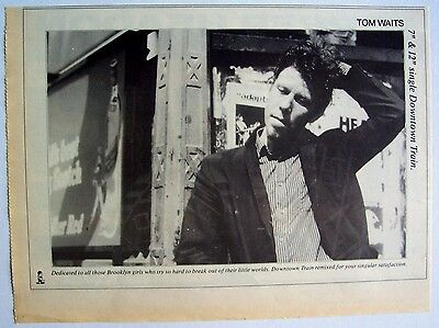 TOM WAITS 1985 Advert DOWNTOWN TRAIN rain dogs