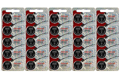 Maxell CR 2032 3 Volt Lithium Coin Cells (25 Batteries)