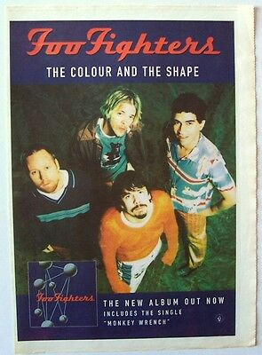 FOO FIGHTERS 1997 Poster Ad THE COLOUR AND THE SHAPE