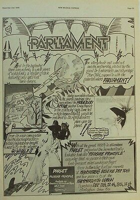 PARLIAMENT 1978 Poster Ad MOTOR BOOTY AFFAIR bootsy collins PARLET pleasure