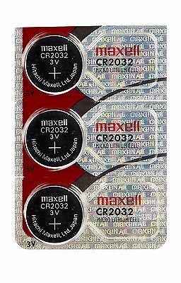 CR 2032 MAXELL LITHIUM BATTERIES (3 piece) 3V Watch Batteries
