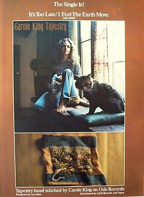 CAROLE KING 1971 Poster Ad TAPESTRY