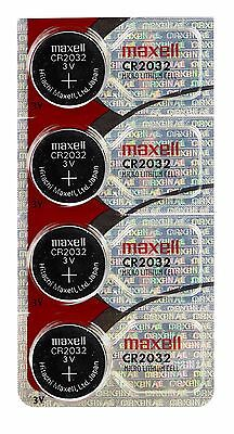 MAXELL ORIGINAL CR2032 watch battery (4pcs) 3 Volt Lithiu FREE SHIPPING EXP 2020