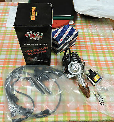Ford 250 2v 225 Pursuit 6 cyl Electronic Distributor & Bosch Coil, Lead Kit
