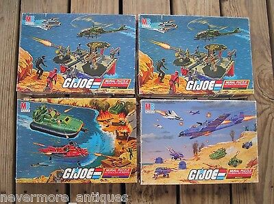 Lot of 4 1985 GI Joe Mural Puzzles Battle 2 3 4 Missing 3 Total Pieces
