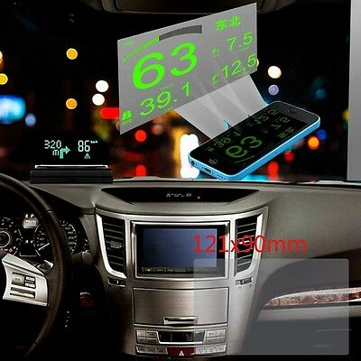 120*90mm Car HUD Head Up Display Reflective Film Protector No Mucus Easy Removed