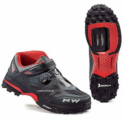Northwave Enduro Mid Mountain Bike / MTB / Riding / Cycling Shoes, Black / Red