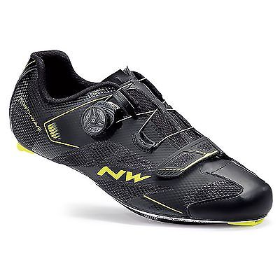 Northwave Sonic 2 Plus Road/Racing/Tri Cycling/Bike Shoes - Black / Yellow Fluo