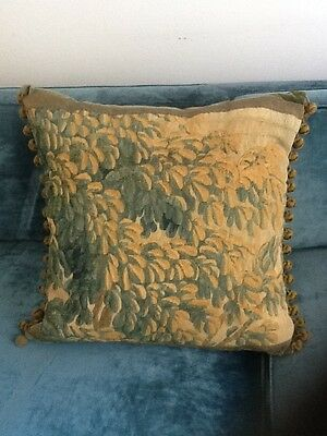 antique english  tapestry  pillow size 21 x21' inch