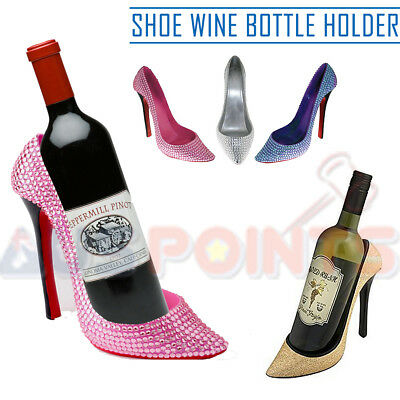 Bling High Heel Shoe Shoes Wine Bottle Holder - Great MOTHER'S DAY Mum Gift
