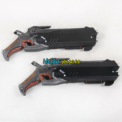 """Exclusive Made Game Overwatch OW Reaper's Double Gun Weapon PVC Cosplay Prop 19"""""""