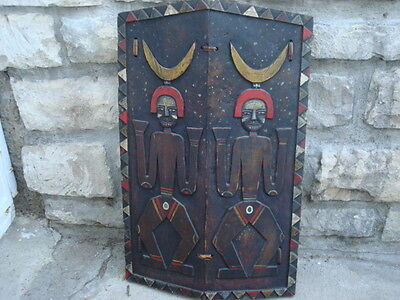 Antique Tribal Art Wooden Shield