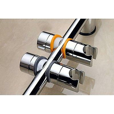 Adjustable Replacement ABS Chrome Shower Rail Head Slider Holder Bracket 20-25mm