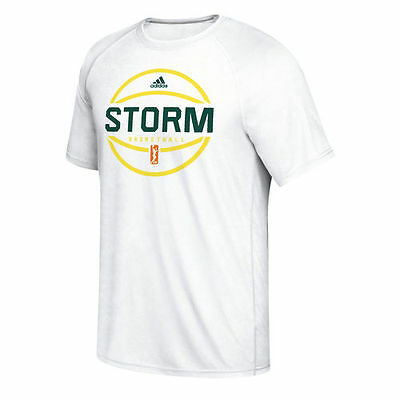 adidas Seattle Storm Women's White On-Court Shooter climalite T-Shirt