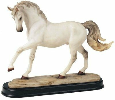 10.5 Inch White Horse Animal Figurine Statue Collectible Figure Wild Horses