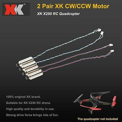 2 Pair XK X250-02 CW/CCW Motor for XK X250 RC Quadcopter
