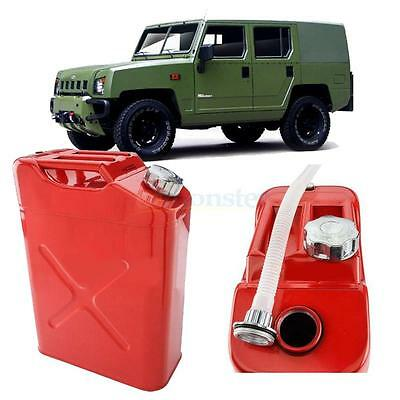 20L Steel Gasoline Gas Fuel Can Emergency Backup Gas Storage Tank Red
