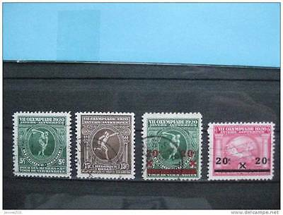 timbres Belgique : VII olympiade 1920